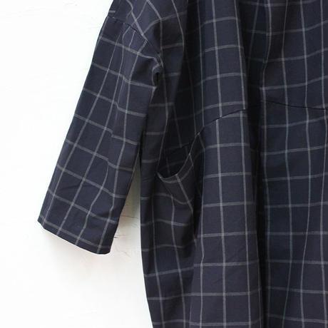 FUNSET OF ART ファンセットオブアート 杢タッターソールチェックTAISHOコート ♯インディゴ【送料無料】