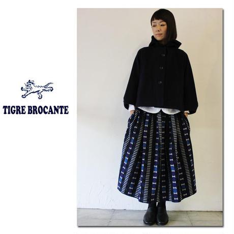 Tigre Brocante ティグルブロカンテ モッサーウールフードジャケット ♯ネイビー【送料無料】