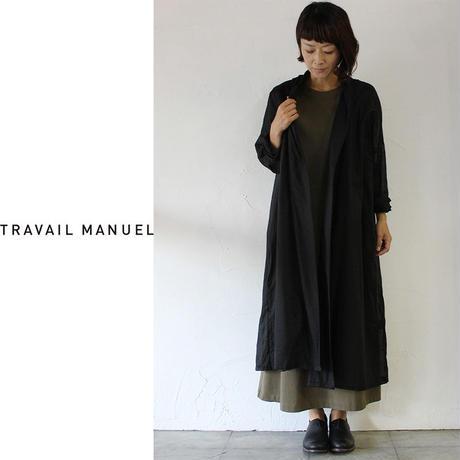 TRAVAIL MANUEL トラバイユマニュアル C/Lローンライトローブ ♯ブラック 【送料無料】