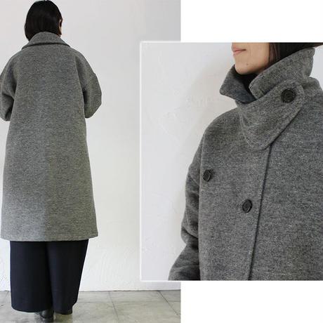 homspun ホームスパン ウールメルトンダブルポケットコート ♯グレー、ネイビー 【送料無料】