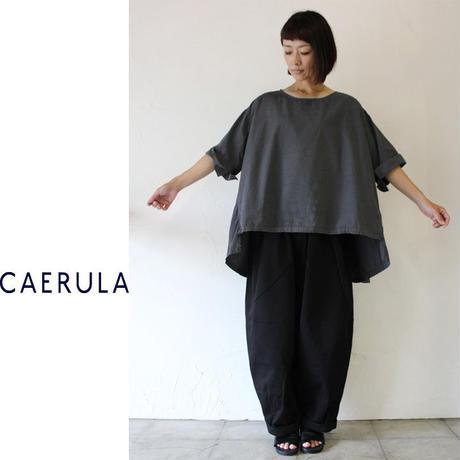 CAERULA カエルラ コットンシルクブロードバックフレアープルシャツ ♯ホワイト、グレー、スモ―キーブルー【送料無料】