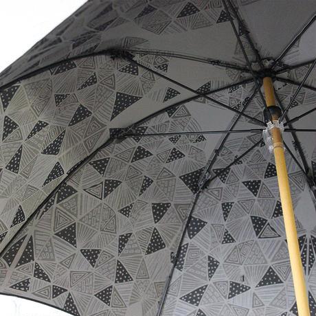 雨花 ukuwa ウクワ 晴雨兼用傘 ♯さんかく黒 【送料無料】