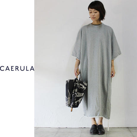 CAERULA カエルラ フレンチテリーBIGワンピース ♯グレー、ブラック 【送料無料】