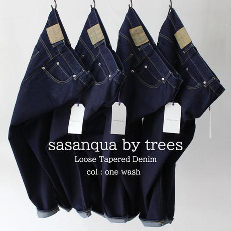 **またまた再入荷** sasanqua by trees  Loose Tapered Denim ルーズテーパードデニム #one wash 【送料無料】