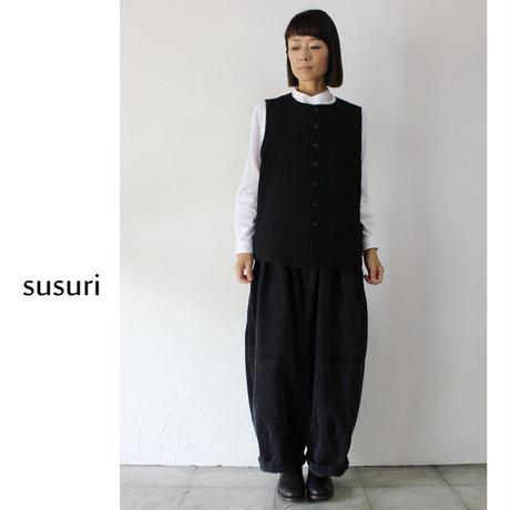 susuri ススリ シンプルベスト ♯black 【送料無料】