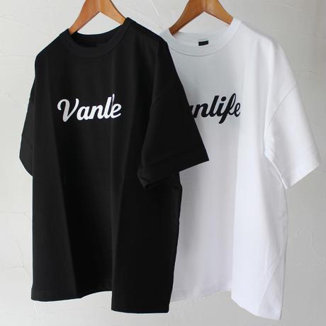 TRAVAIL MANUEL ミディ天竺プリントTシャツ(Vanilife)  #ホワイト、ブラック