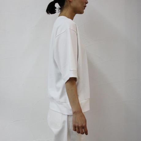 ARTE POVERA アルテポーヴェラ ミニ裏毛半袖トレーナー #ホワイト、ネイビー