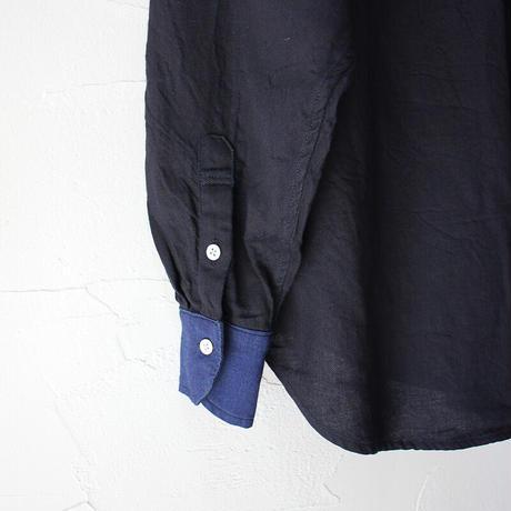 FUNSET OF ART ファンセットオブアート IDGナローボタンダウンシャツ #インディゴ 【送料無料】