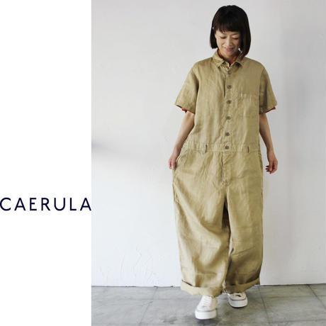 **ラスト一点再入荷**CAERULA カエルラ 製品染めオールインワン #ベージュ【送料無料】
