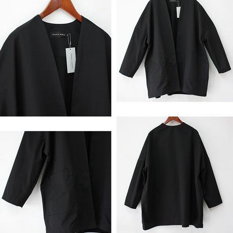 TRAVAIL MANUEL トラバイユマニュアル コンパクトチノノーカラーBIGジャケット #キャメル、ブラック