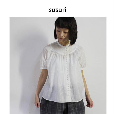 **再入荷**susuri ススリ テンドーネブラウス #ホワイト 【送料無料】