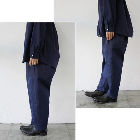 **再入荷** homspun ホームスパン 8オンス ウェポンデニムギャザーパンツ #ブルー 【送料無料】