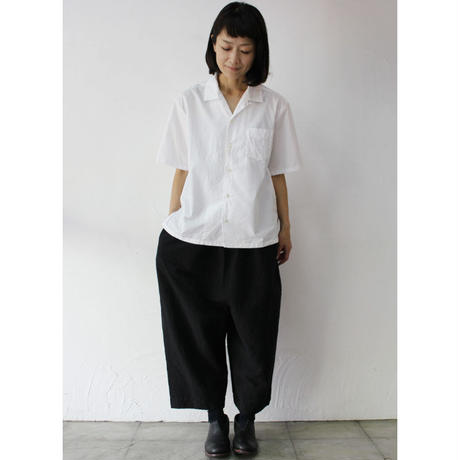 homspun ホームスパン 100/2ブロードオープンカラーシャツ #サラシ、ベージュ 【送料無料】