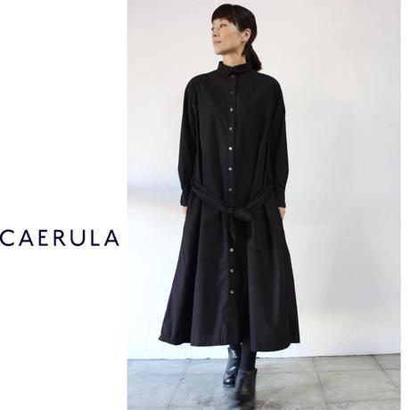 **S u K i M a -スキマ-別注**CAERULA カエルラ コットンタイプライターオーバーワンピース #ブラック【送料無料】