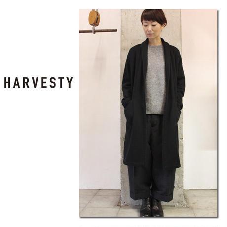 HARVESTY ハーべスティ 先起毛裏毛ガウンコート #杢グレー、ブラック 【送料無料】