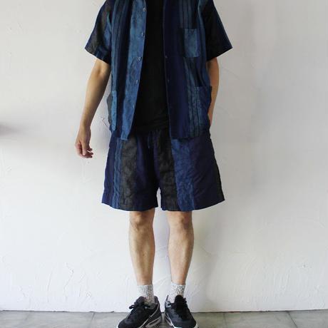 FUNSET OF ART ファンセットオブアート 藍裂パッチワークイージーパンツ ♯インディゴ 【送料無料】
