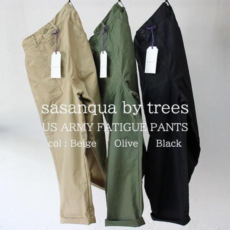 **またまた再入荷** sasanqua by trees サザンカ US ARMY FATIGUE PANTS ファティーグパンツ #オリーブ、ベージュ、ブラック 【送料無料】