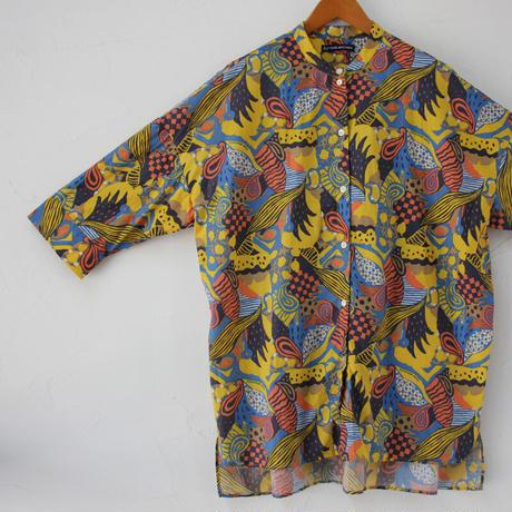 Tigre Brocante ティグルブロカンテ ラジャスターンバックタックロングシャツ #イエロー 【送料無料】