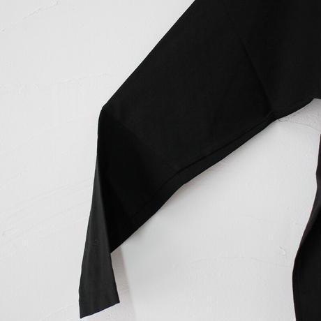homspun ホームスパン 60/2天竺カーディガン #ブラック【送料無料】