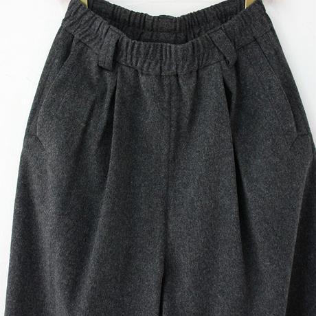 atelier naruse アトリエナルセ lamb wool wide pants #チャコールグレー 【送料無料】