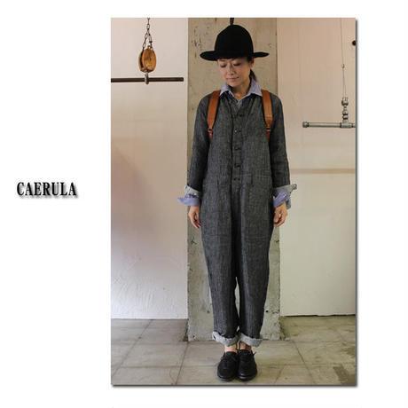 CAERULA カエルラ リネンデニムスマルトオールインワン #ネイビー 【送料無料】