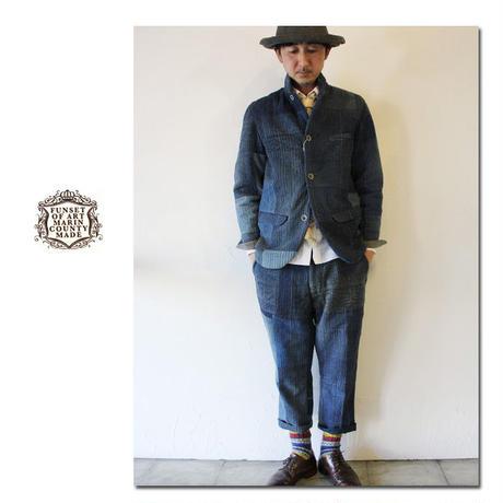 FUNSET OF ART ファンセットオブアート RANRU刺し子ウォールワークパンツ #インディゴ 【送料無料】
