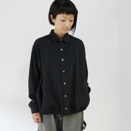 ARTE POVERA アルテポーヴェラ 120/2サテンコットントラックシャツ #ブラック 【送料無料】
