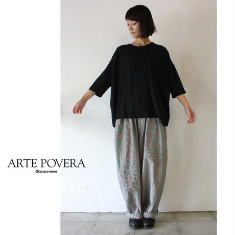 ARTE POVERA アルテポーヴェラ 120/2天竺ワイドTシャツ #ホワイト、キャメル、ブラック