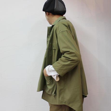 ARTE POVERA  アルテポーヴェラ ユーロアーミーREワイドシャツ #カーキMIX 【送料無料】