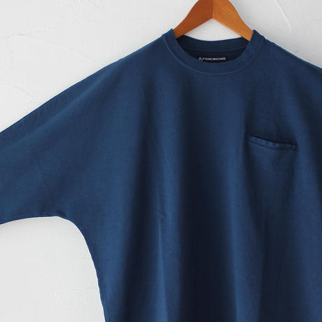 Tigre Brocante ティグルブロカンテ フェザー天竺ストールマンTシャツ ♯ナチュラル、ブルーグリーン