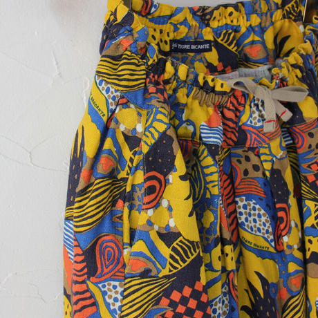 TigreBrocante ティグルブロカンテ ラジャスターンプリントポケットフィセルスカート #レッド、イエロー 【送料無料】
