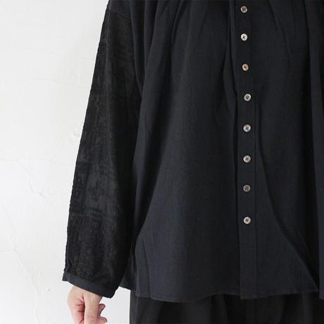 Brocante ブロカント コットンシルクラルジュダンテルシャツ ♯ホワイト、ブラック 【送料無料】