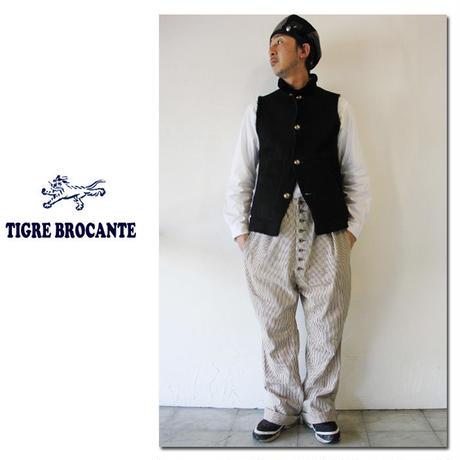 Tigre Brocante ティグルブロカンテ ムートンハイネックベスト ♯ブラック 【送料無料】