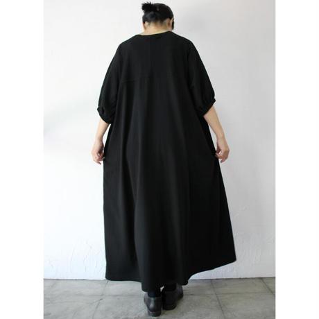 amne アンヌ YOKE dress ヨークドレス  #ブラック 【送料無料】