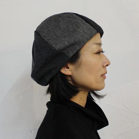 S u K i M a -スキマ-別注 FUNSET OF ART ファンセットオブアート ブラックパッチワークボートベレー #ブラック 【送料無料】