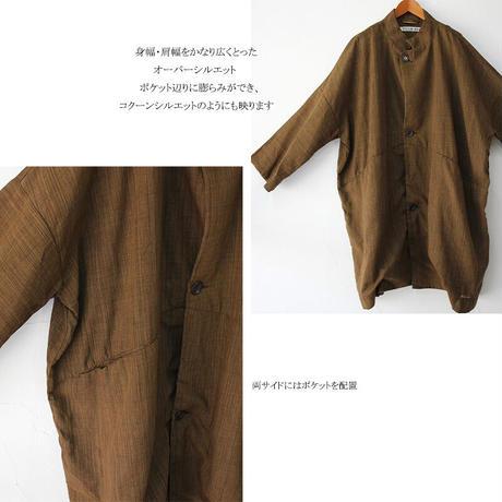 FUNSET OF ART ファンセットオブアート 泥渋シャンブレーTAISHOコート #ブラウン 【送料無料】