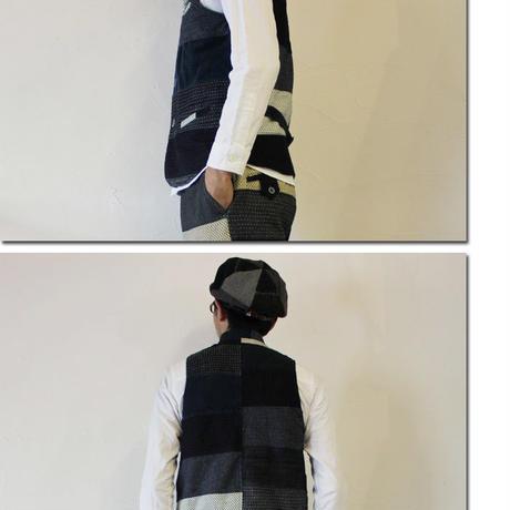 FUNSET OF ART ファンセットオブアート ボーダー刺し子シーマンベスト ♯インディゴ 【送料無料】