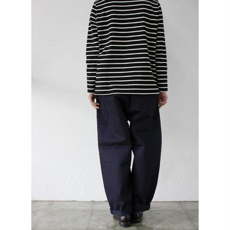 atelier naruse アトリエナルセ cotton chino balloon pants コットンチノWゴムバルーンパンツ #ネイビー 【送料無料】