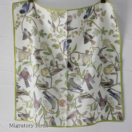 ASEEDONCLOUD アシードンクラウド Handkerchiefh ハンカチ  #Sheep,Bird's Nest,Migratory Birds,Plessed Flower,Ajisai