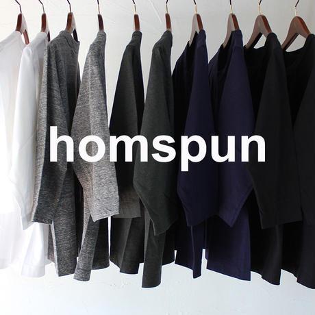 **再入荷**homspun ホームスパン 30/-天竺7分袖Tシャツ