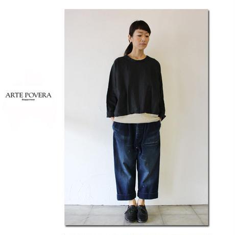 ARTE POVERA アルテポーヴェラ VTリネンUネックドルマンT #ホワイト、ブラック 【送料無料】