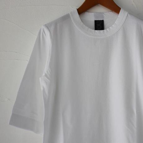 homspun ホームスパン 30/-天竺6分袖Tシャツ #サラシ、ピーチ、ラズベリー、ブラック