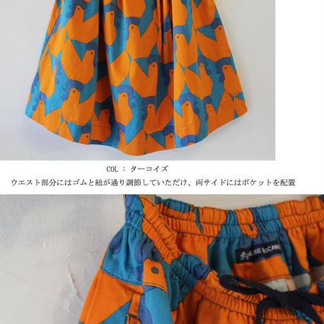 Tigre Brocante ティグルブロカンテ クララ柄30サテンポケットフィセルスカート ♯ボルドー、ターコイズ、ネイビー 【送料無料】