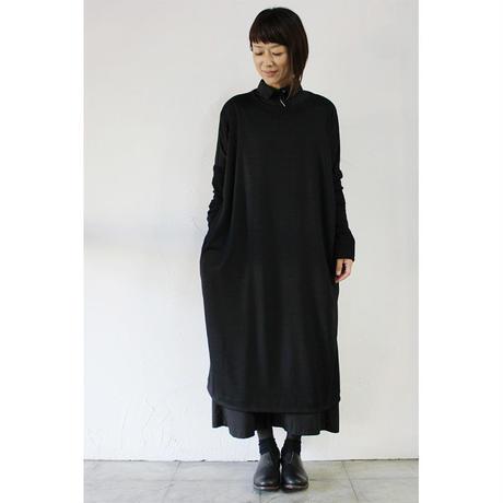 CAERULA カエルラ ウォッシャブルウールジャージワンピース ♯グレー、ブラック 【送料無料】