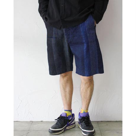 0FUNSET OF ART ファンセットオブアート デニム刺し子ハリーショートパンツ #インディゴ 【送料無料】