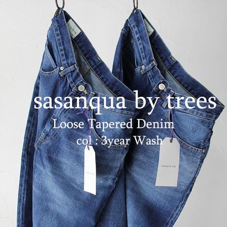 sasanqua by trees Loose Tapered Denim ルーズテーパードデニム #3year Wash【送料無料】
