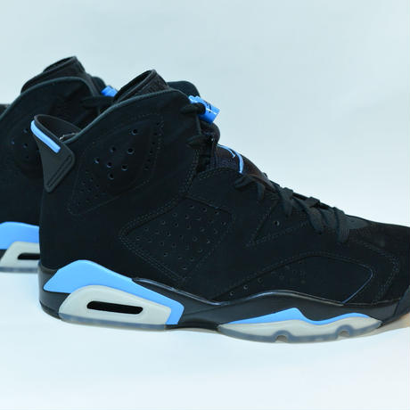 NIKE AIR JORDAN 6 RETRO / BLACK / UNIVERSITY BLUE / 27.5cm