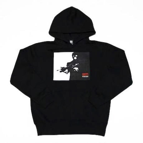 SHOTS T.S.N.M SWEAT HOODYⅡ (BLACK)