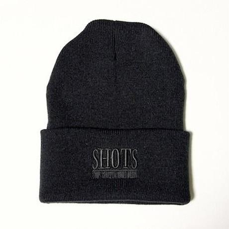 SHOTS T.S.N.M LONG BEANIE CAP (BLACK)