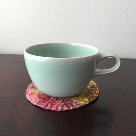 八重山陶磁 青磁スープカップ(磁器)/宮良断(アンパル陶房)